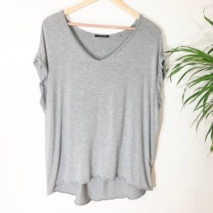 Tahari oversized Heather grey knit Top size M